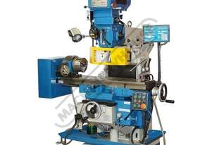 PBM-GSV250 Turret Milling Machine - Horizontal & Vertical Includes DRO & Dividing Head (X)700mm (Y)