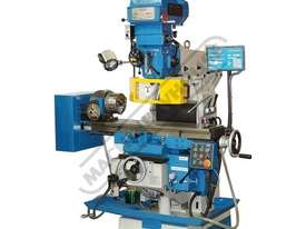 PBM-GSV250 Turret Milling Machine - Horizontal & Vertical Includes DRO & Dividing Head (X)700mm (Y)  - picture0' - Click to enlarge
