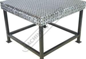 FBL120120-M CertiFlat fabBLOCK 3D Welding Table with Legs 1200 x 1200 x 860mm (LxWxH) Tab & Slot U-W