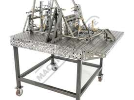 FBL120120-M CertiFlat fabBLOCK 3D Welding Table with Legs 1200 x 1200 x 860mm (LxWxH) Tab & Slot U-W - picture2' - Click to enlarge