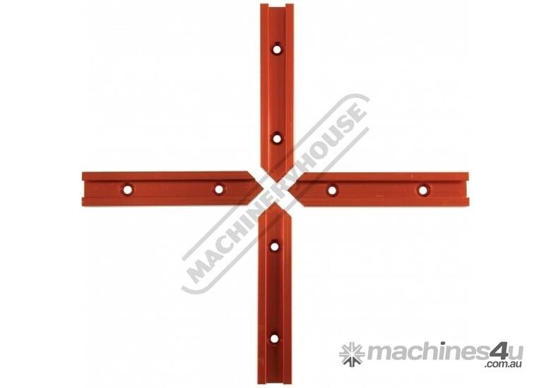 C1025 Universal T-Track - Intersection 4 x 100mm Lengths