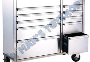 ROLLER CABINET 12  DRAWER 1065MM S/STEEL