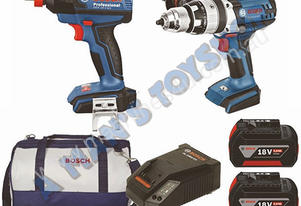 IMPACT DRIVER/WRENCH DRILL KIT 18V 6AH