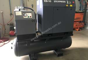 7.5kW 30 cfm,Screw Compressor with tank and dryer