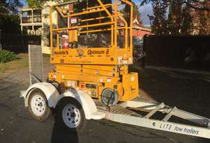Haulotte Scissor lift and trailer
