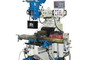 BM-62VE Turret Milling Machine (X) 865mm (Y) 420mm (Z) 400mm Includes Digital Readout, Vice & Clamp
