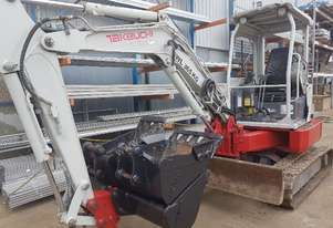 USED TAKEUCHI TB138FR EXCAVATOR WITH LOW HOURS