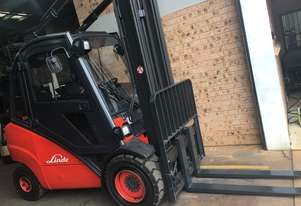 FORKLIFT-LINDE H35T 4.5m Side Shift New Tires Great Air Con Clean Smooth