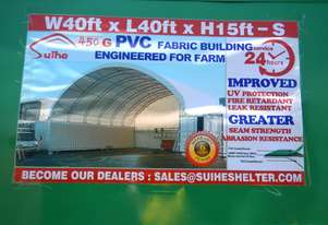 12m x 12m x 4.5m Double Trussed Container Shelter