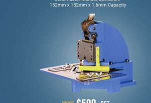 152mm x 152mm x 1.6mm Corner Notcher - FREE Stand Included - Valued $199+GST
