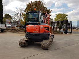 USED KUBOTA U55-4 EXCAVATOR WITH FULL CABIN, HITCH, BUCKETS AND 3125 HOURS - picture5' - Click to enlarge
