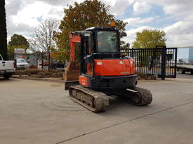 USED KUBOTA U55-4 EXCAVATOR WITH FULL CABIN, HITCH, BUCKETS AND 3125 HOURS - picture7' - Click to enlarge