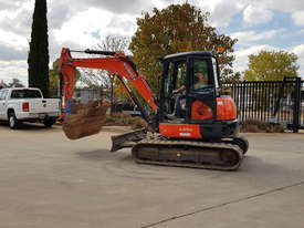 USED KUBOTA U55-4 EXCAVATOR WITH FULL CABIN, HITCH, BUCKETS AND 3125 HOURS - picture9' - Click to enlarge
