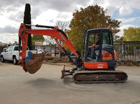 USED KUBOTA U55-4 EXCAVATOR WITH FULL CABIN, HITCH, BUCKETS AND 3125 HOURS - picture10' - Click to enlarge