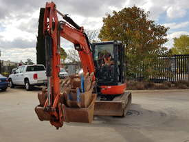 USED KUBOTA U55-4 EXCAVATOR WITH FULL CABIN, HITCH, BUCKETS AND 3125 HOURS - picture12' - Click to enlarge