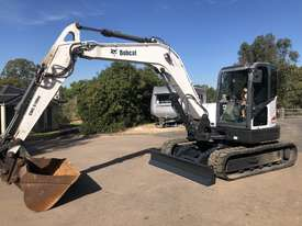 BOBCAT E80 8.4T Hydraulic Excavator A/C Cab with 1500mm Mud Bucket - picture1' - Click to enlarge