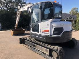 BOBCAT E80 8.4T Hydraulic Excavator A/C Cab with 1500mm Mud Bucket - picture0' - Click to enlarge