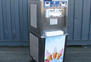 Ice Cream Soft Serve Two Flavour Dispenser Machine