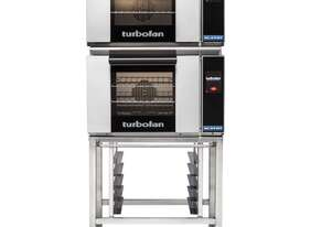 Turbofan E23T3/2C - Half Size Electric Convection Ovens Touch Screen Control Double Stacked on a Sta