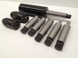 8 Pce. MT4 - Drill Chuck, Sleeves & Arbor Set. - picture2' - Click to enlarge