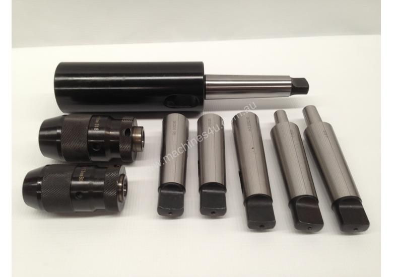 8 Pce. MT4 - Drill Chuck, Sleeves & Arbor Set.