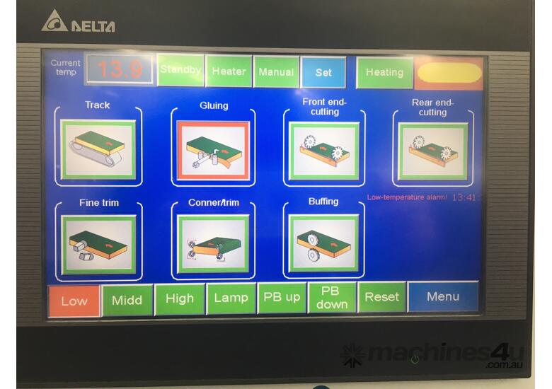 KDT-365 Touchscreen, 3 speed to 23m/min, solid simple and accurate