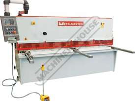 HG-2504 Hydraulic NC Swing Beam Guillotine - Deluxe 2500 x 4mm Mild Steel Shearing Capacity 1-Axis E - picture0' - Click to enlarge