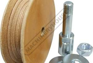 Scheppach 100mm Leather Honing Disc