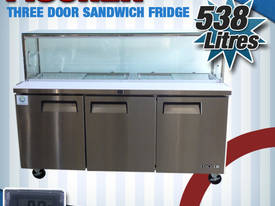 Three Door Sandwich Fridge USS03-GL V2