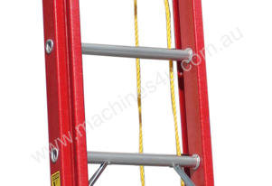 3.8 - 6.5m Fiberglass Extension Ladder