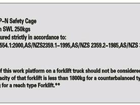 New Forklift Safety Cage/ Man cage - picture1' - Click to enlarge