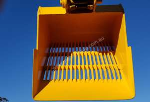 Skeleton sieve bucket to suit 20 ton machine