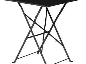 Bolero Black Square Pavement Style Steel Table - picture0' - Click to enlarge