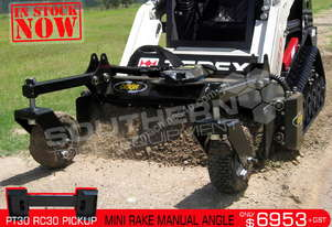 1220mm Mini Power Rake Manual Angle PT30 RC30 Mini ATTRAK