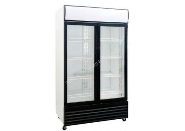 Saltas Double Glass Door Upright Fridge 1000Lt DFS1000