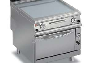 Baron 90FTTF/G800 Smooth Mild Steel Gas Griddle with Gas Oven