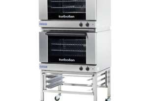 Turbofan E27M3/2C - Full Size Tray Manual Electric Convection Ovens Double Stacked With Castor Base