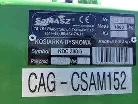 Samasz KDC300S Mower Conditioner Hay/Forage Equip - picture6' - Click to enlarge