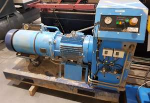 HYDROVANE 11KW 15hp PORTABLE ROTARY VANE AIR COMPRESSOR SKID MOUNTED, SUPER QUIET for Building Sites
