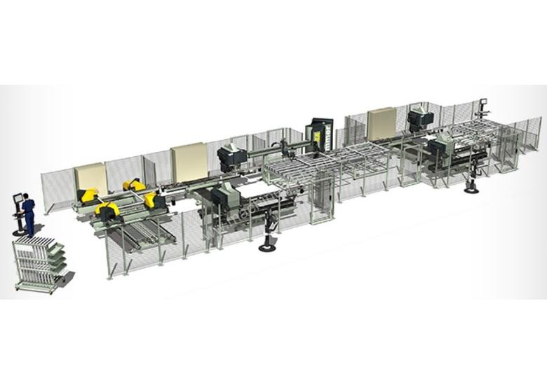 Integra Q1-Q2 Corner Welding and Cleaning Line for PVC Profiles