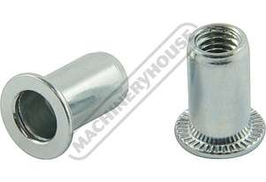 N005 Steel Nut Rivets - 50 Pack Zinc Coated M5 x 0.8mm