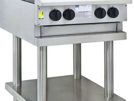 4 Burner Cooktop with flame failure, legs & shelf - picture0' - Click to enlarge