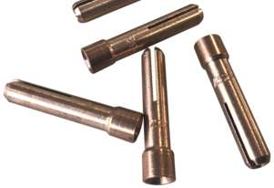 Tigmaster Stubby Collet 2.4mm 10N24S for 17, 18 & 26 Series TIG Torches - Pack of 5
