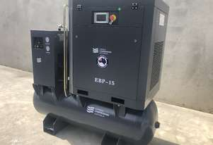 11kW 60 cfm Packaged Screw Compressor with tank and dryer!