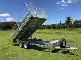Ozzi 14x7 Flat Top Tipper Trailer - picture0' - Click to enlarge