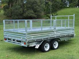 Ozzi 14x7 Flat Top Tipper Trailer - picture1' - Click to enlarge