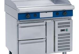 Blue Seal Evolution Series EP518-RB - 1200mm Electric Griddle Refrigerated Base