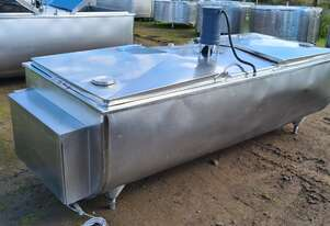 STAINLESS STEEL TANK, MILK VAT 1320 LT