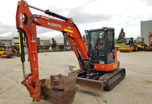 2018 KUBOTA U55-4 EXCAVATOR WITH CABIN, AIR AND LOW 992 HOURS