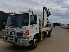 2009 HINO FG 500 - Truck Mounted Crane - 1527 - Tray Truck - Tray Top Drop Sides - picture0' - Click to enlarge